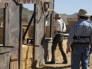 Participating at Cowboy Action Shooting, Douglas Wright (Canada)
