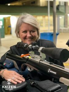 Winner at 200 Yard Rimfire Fly shoot – Fiona Lacey (Kaizen Tactical Team, Australia)