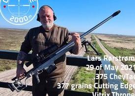 Lars Rørstrøm shot 2000m at the Cold Bore Range with 5-42×56 March Scope (Denmark)